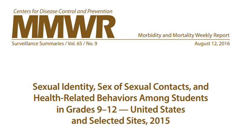NSV Highlight on:                                                                                     CDC Study  Shows Higher Rate of Violence to LGBTQ Youth