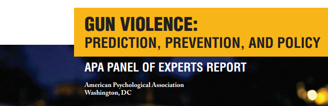 NSV Highlight on: APA's Gun Violence: Prediction, Prevention, and Policy