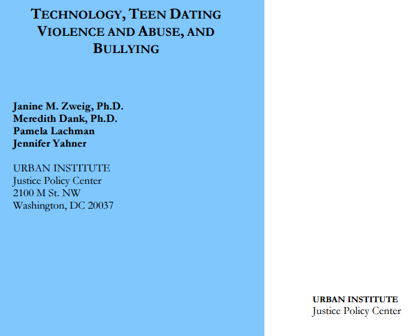 NSV Highlight on: Technology, Teen Dating Violence and Abuse, and Bullying (a report)